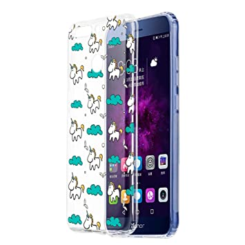 huge discount 6ff65 2036d Honor 9 Lite Case, Eouine Honor 9 Lite Clear Phone Case with Pattern [Ultra  Slim] Shockproof Soft TPU Silicone Gel Back Cover Bumper Skin for Huawei ...