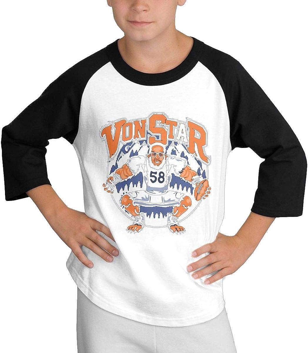 Teens Baseball Jersey Funny-Von-Miller 3//4 Sleeve Raglan Baseball T-Shirt