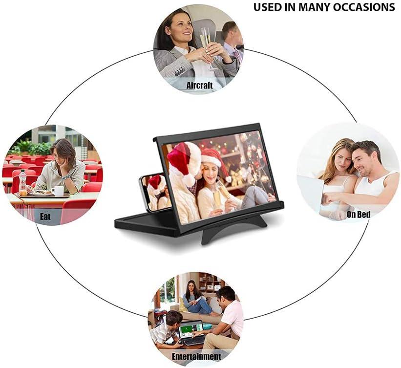 Pantalla de 12 Screen Mobile Phone DOHAPPYS Lupa de Pantalla Adecuada para Ver Videos de pel/ículas en Todos los tel/éfonos Inteligentes