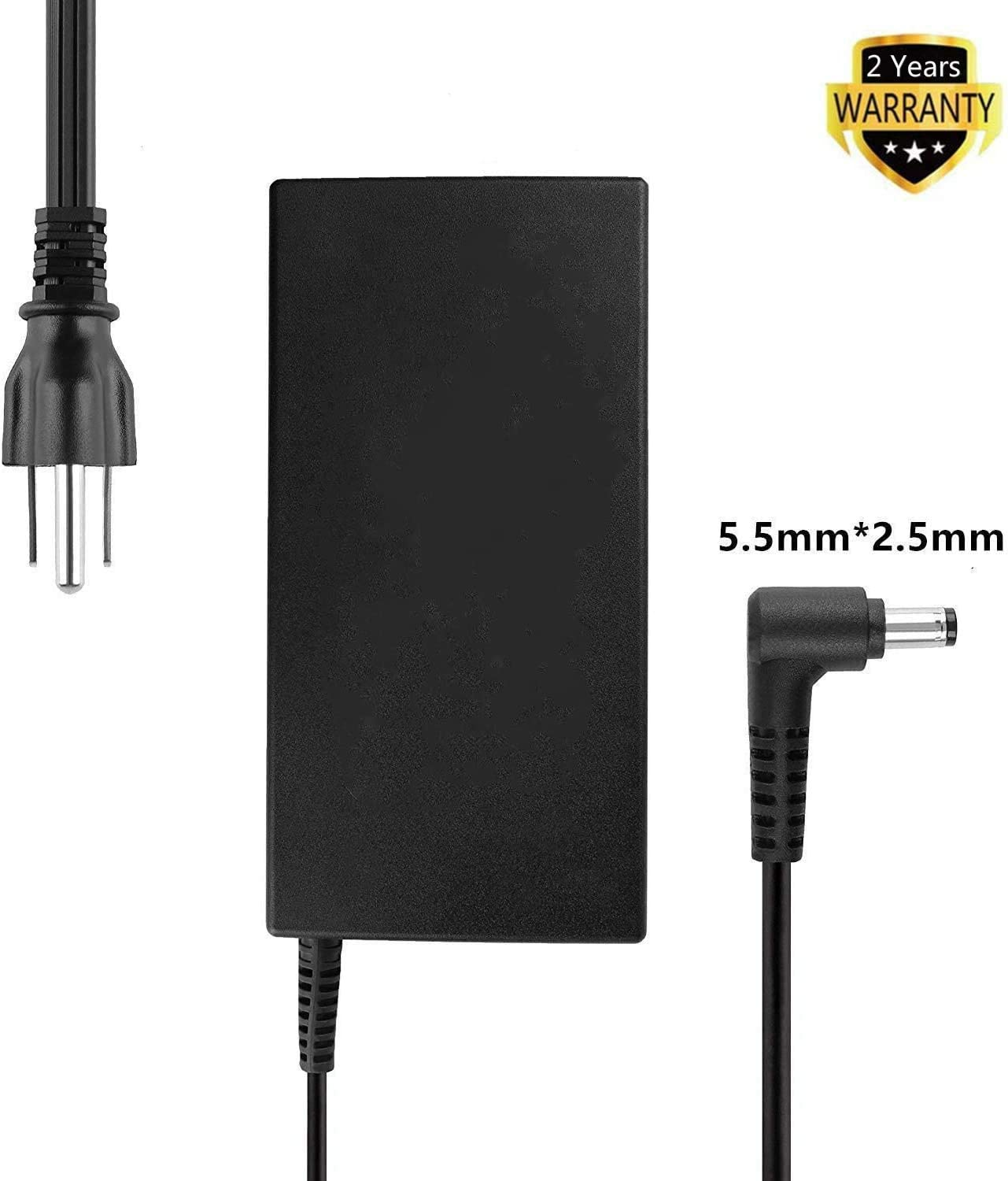 120W Slim Power Cord AC Adapter Charger for MSI Gaming Notebook A12-120P1A A15-120P1A ADP-120MH D MSI GP60 GE60 GE62 GE70 GT640 Lenovo Y730P B470 B475 by ETTECH