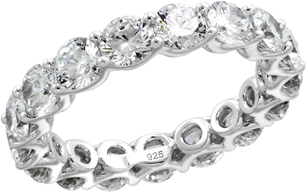 Details about  /0.18 Cts Pink Zirconia Half Eternity Band 925 Sterling Silver Stackable Ring