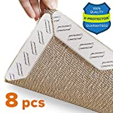 Tools & Hardware : Rug Grippers X-PROTECTOR –Best 8 pcs Anti Curling Rug Gripper. Keeps Your Rug in Place & Makes Corners Flat. Premium Carpet Gripper with Renewable Gripper Tape – Ideal Anti Slip Rug Pad for Your Rugs
