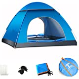 Cuteboom Pop up tent 2-3 Person Tent Automatic Instant Setup Water Resistant Ventilation and Anti-UV for Backpacking and Camping (Blue)