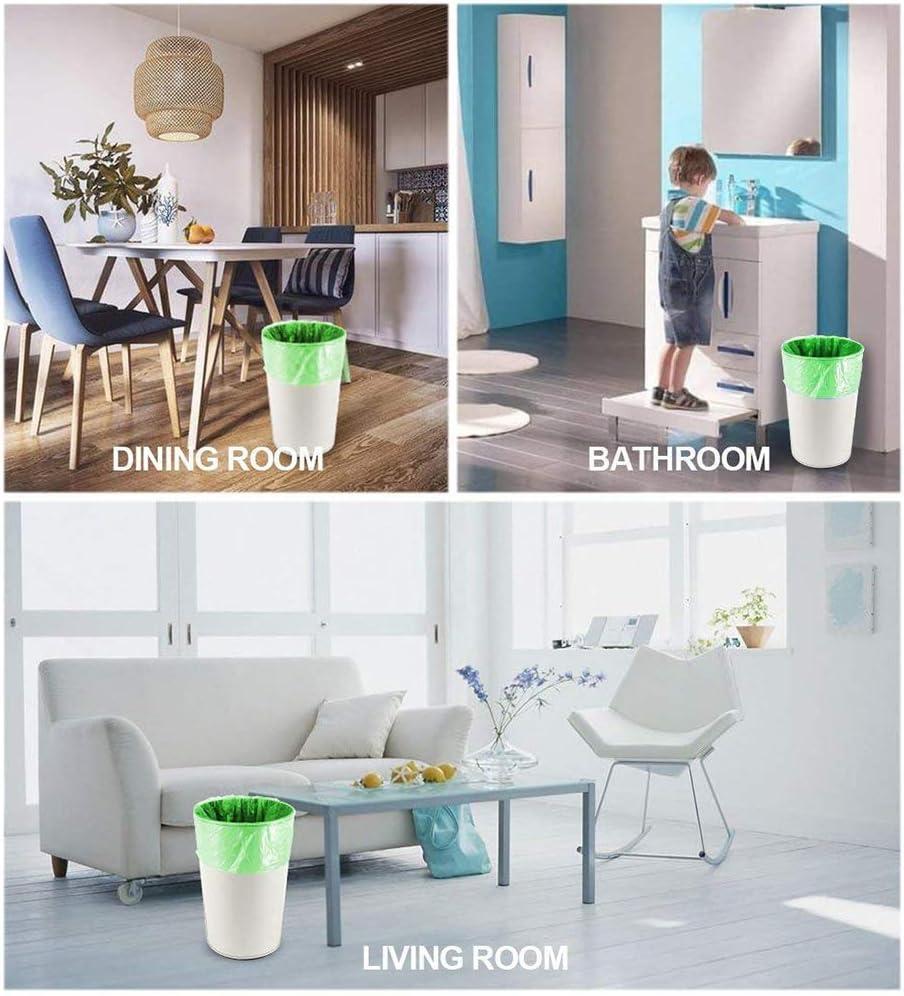 bolsas de basura fuertes Bolsas de basura biodegradables recicladas y degradables hogar cocina ba/ño 100 unidades a prueba de fugas bolsas compostables para oficina 6-8 Gallon dormitorio
