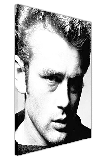 ICONIC BLACK AND WHITE JAMES DEAN POSTER FRAMED CANVAS WALL ART ...