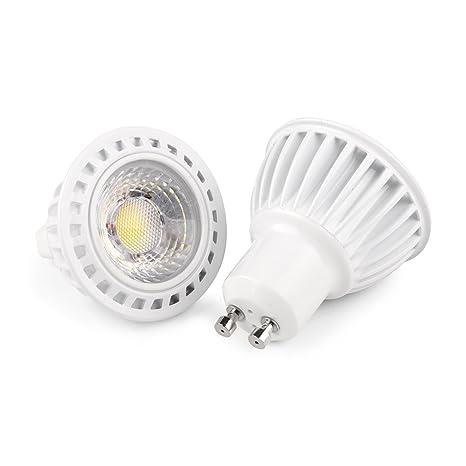 CY LED COB 5W Gu10 Bombillas LED Blanco cálido 3000K, 500LM, Lámparas Halógenas Equivalentes