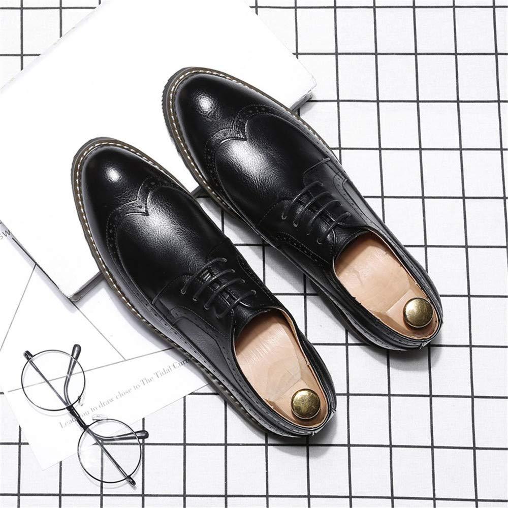 JIALUN-Schuhe Männerpersönlichkeit Art und und und Weise Oxford beiläufige Klassische Schnitzereien atmen britischen Art Outsole Brogue Schuhe (Farbe   Warm schwarz, Größe   45 EU) bba501