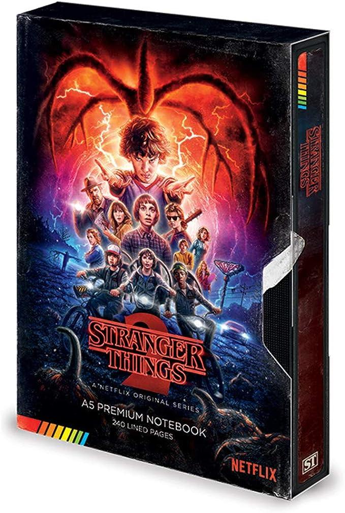 Diario oficial de Stranger Things, tamaño A5, VHS Season 2, regalo de papelería: Amazon.es: Ropa y accesorios