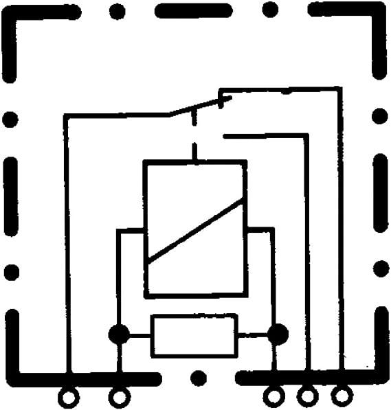 Hella 4rd 007 794 021 Relais Kaltstartsteuerung 12v 5 Polig Schaltbild W2 Stecker B1 Öffner Schließer Wechsler Farbe Schwarz Ohne Halter Auto
