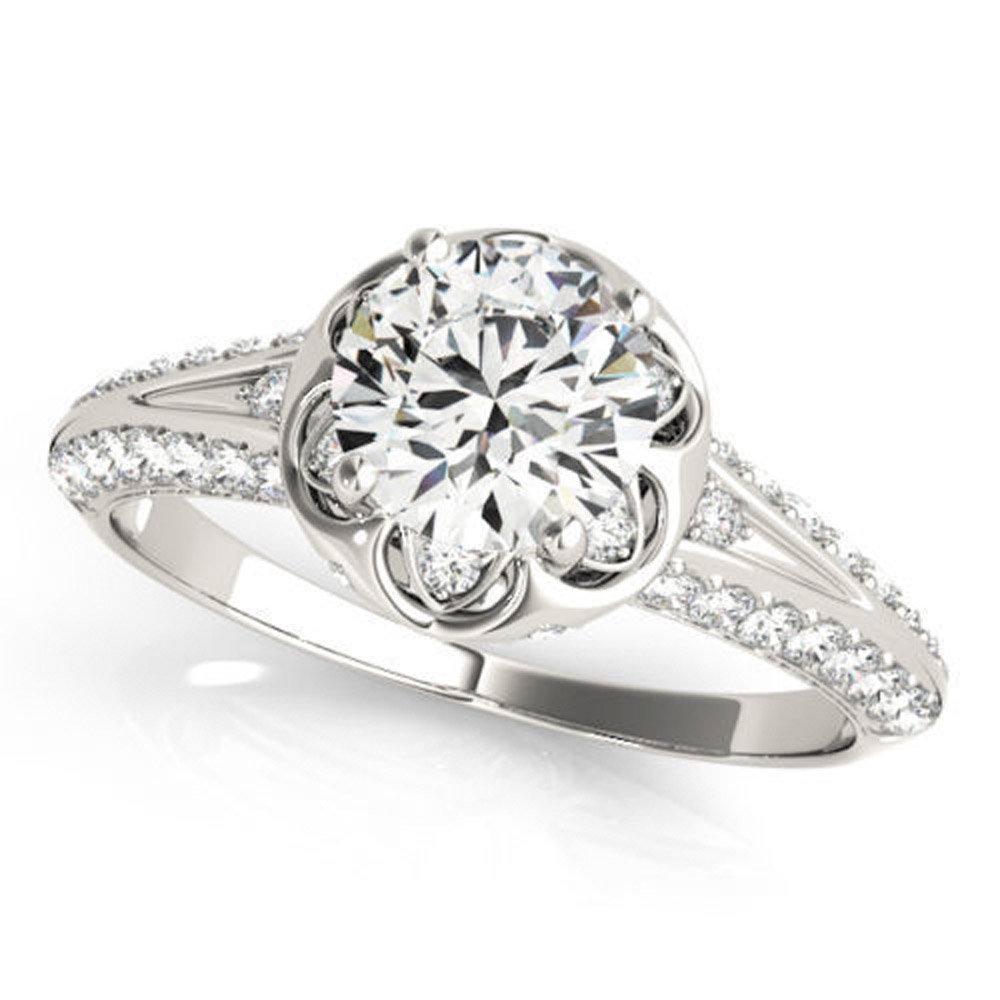 Nice 0.92 ct J-K Moissanite Engagement wedding Ring 925 Sterling Silver