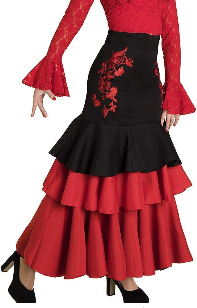Falda de Mujer para Danza Flamenco o sevillanas. Made IN Spain ...