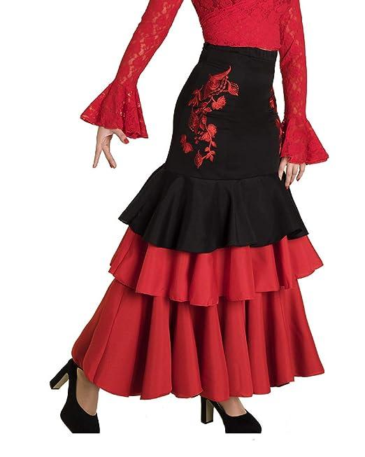 Anuka Falda de Mujer para Danza Flamenco o sevillanas (S)