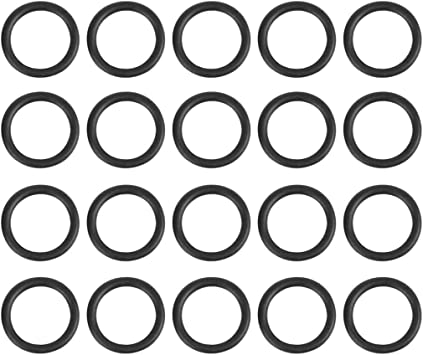 X AUTOHAUX 100pcs 6mmx1mm O-rings Heat Resistant Sealing Ring Gaskets for Car