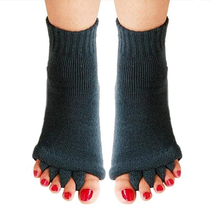 Gris Separador Wellness Calcetines Chanclas Masaje de pies Pedicura Calcetines Talla 34 hasta 43: Amazon.es: Zapatos y complementos