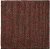 6' x 6' Square Safavieh Area Rug SOH812D-6SQ Chocolate/Red Color Hand Tufted India ''Soho Collection''