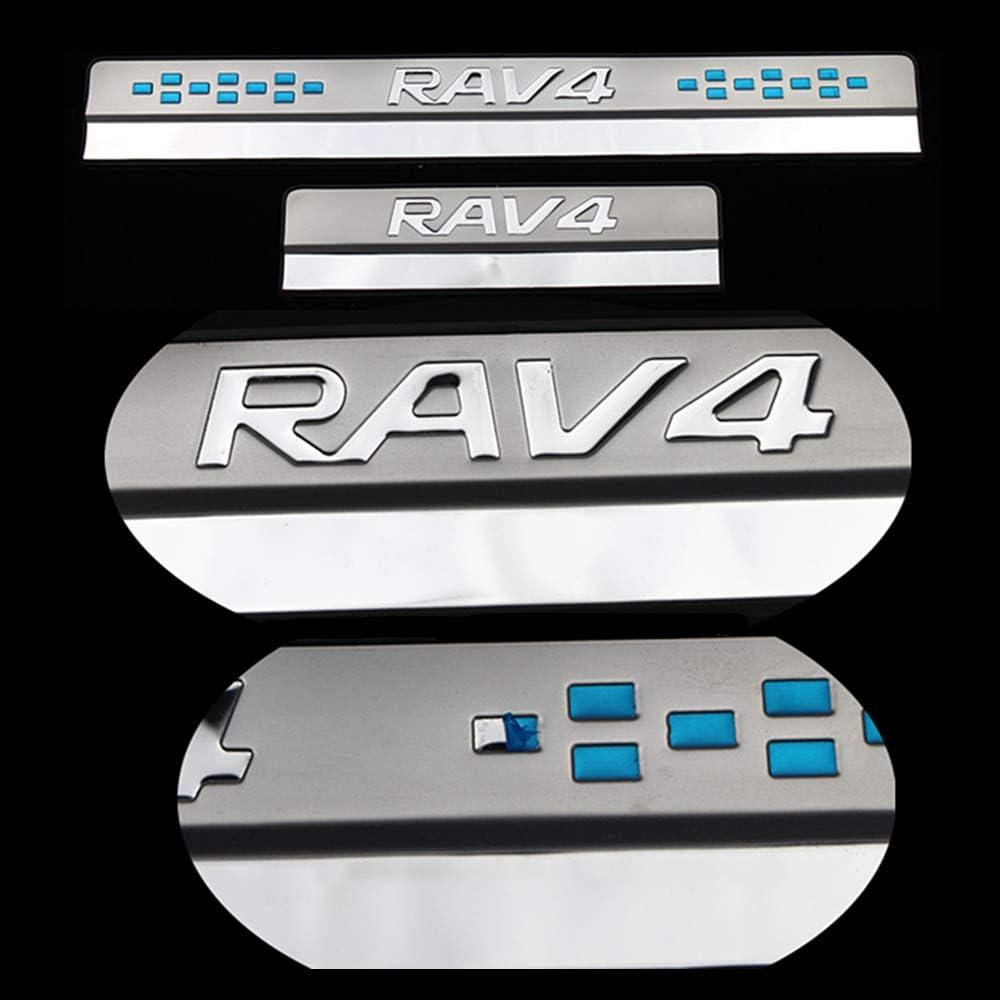 Car Styling Wear Sill Plate 4-teiliges Einstiegsleisten-Pedal aus Edelstahl f/ür Toyota RAV4 2013 2014 2015-2020