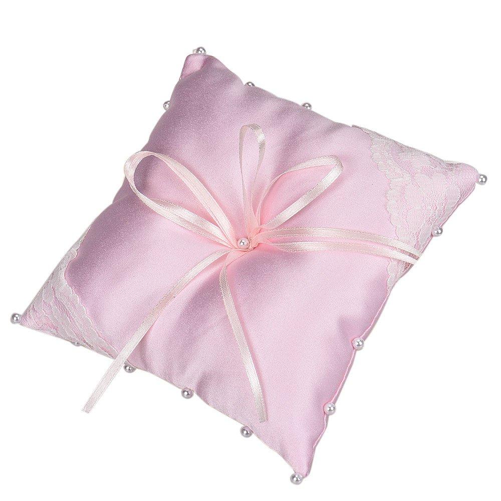 Amazon.com : Small Satin Bowknot Wedding Party Pocket Ring Pillow ...