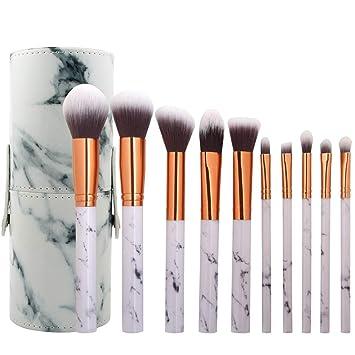 28304473d07 10Pcs Marble Makeup Brushes Beauty Professional Cosmetic Unique Style  Kabuki Brush Set Foundation Brush Powder Brush