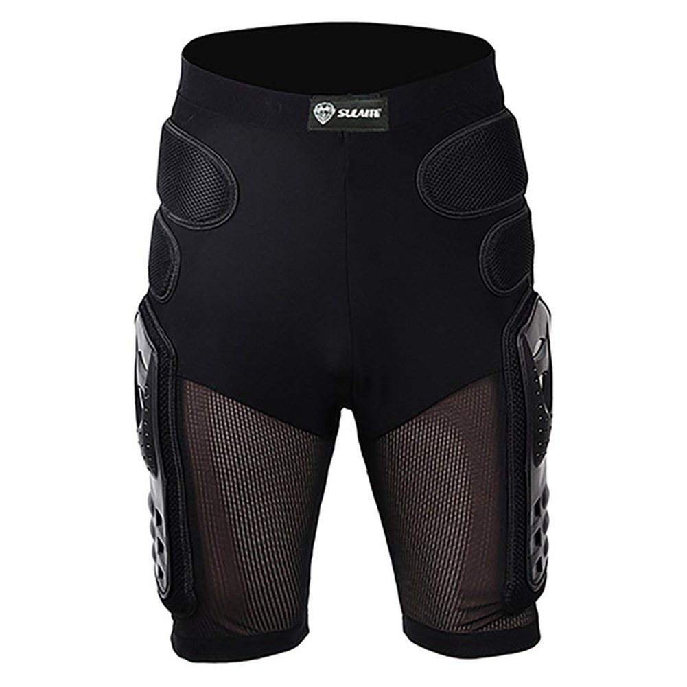 Explore Motocycle Armor Pants Gear Sport Protective Gear Hip Pad Motorcross Off-Road Downhill Mountain Bike Skating Ski Hockey Armor Shorts (L)