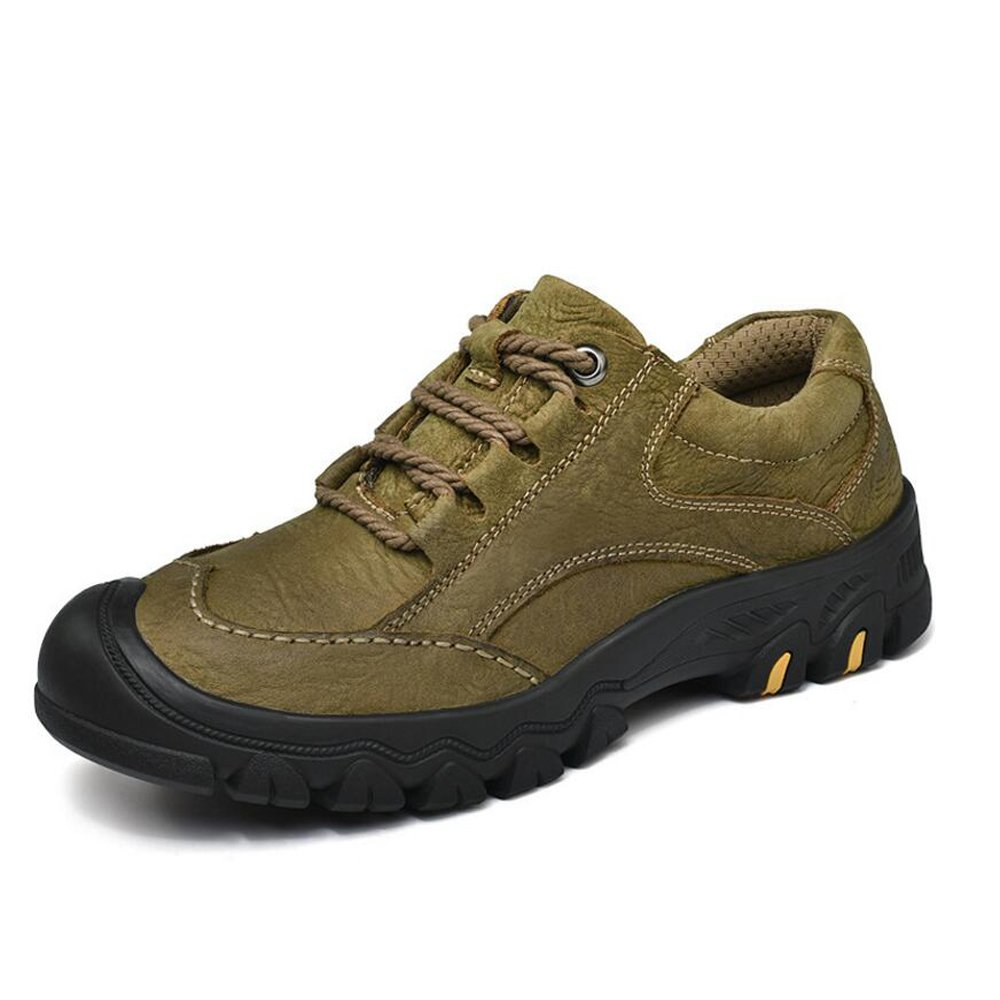 Zapatos para hombres Cuero Four Seasons Comfort Zapatos atléticos Zapatos para caminar Con cordones para hombres Atléticos Casual Zapatos para hombre Negro / Marrón / Caqui GAOLIXIA ( Color : Khaki , tamaño : 42 ) 42 Khaki