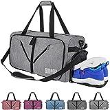 e4af96f9768 Amazon.com  Sport Gym Bag with Shoe Compartment Duffle Travel Bag ...