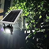 Solar Lights Outdoor, HUANLEMAI Super Bright 5200mAh 600lm Motion Sensor Solar Powered Security Smart Light LED Lighting Waterproof Floodlight for Garden Landscape Driveway Pathway Stage Patio Yard