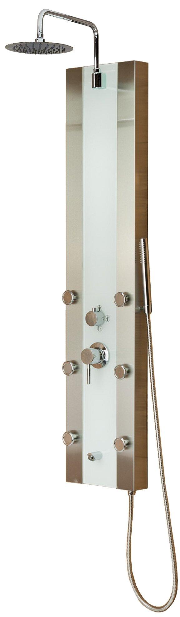 Pulse 1039W-BN Tropicana Shower Spa, Brushed Nickel