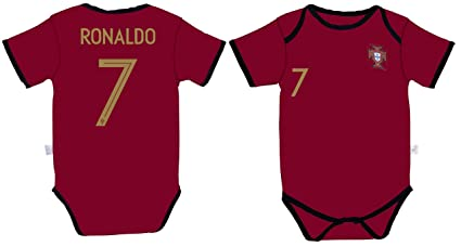 741f9ee26df World Cup Baby Cristiano Ronaldo #7 Portugal Home Soccer Jersey Baby Infant  and Toddler Onesie