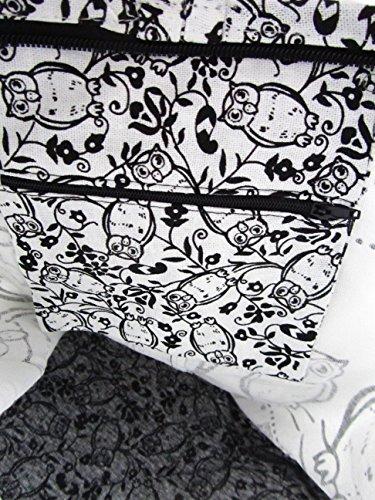 Thai Hippie Boho Bag Hobo for Owl Medium Crossbody Women Sling White Shoulder Purse qFwYHFX1t