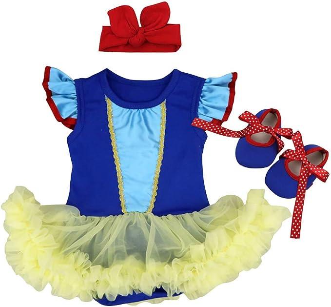Amazon.com: FYMNSI Disfraz de princesa para recién nacido ...