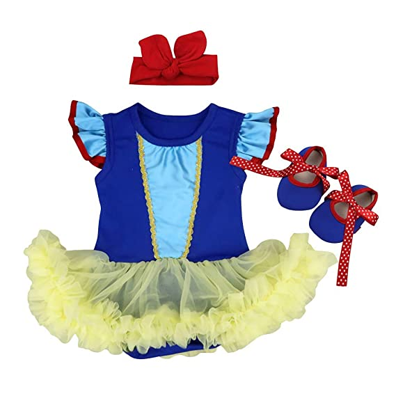 Infant Baby Girls Halloween Costume Princess Dress Carnival Cosplay Party Romper