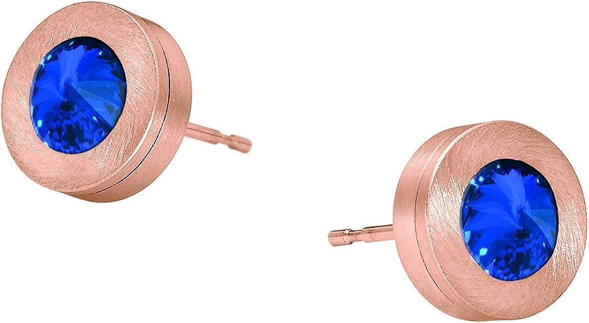 Heideman pendientes mujer de acero inoxidable color oro rosa Pendientes largos con joyería