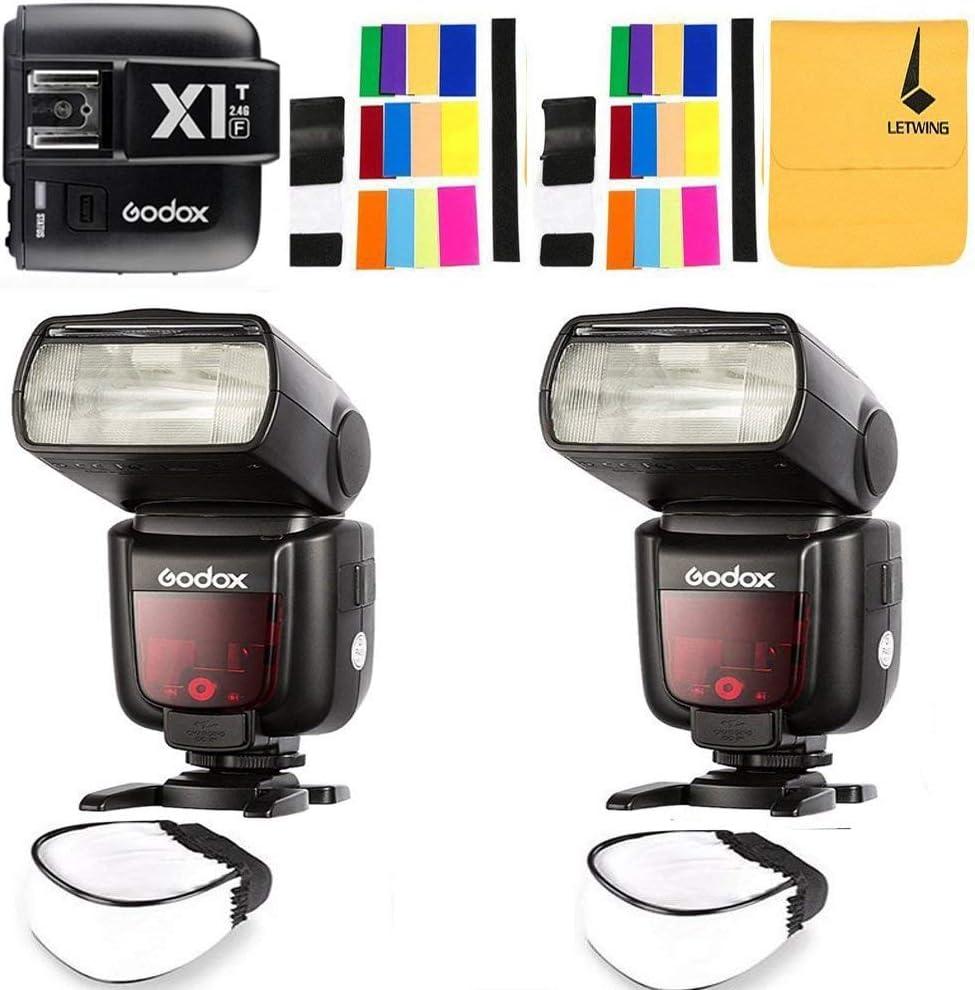 GODOX TT685O Thinklite TTL 2X Camera Flash High Speed 1/8000s GN60 for Olympus Panasonic Cameras E-TTL II Autoflash,GODOX X1T-O TTL 1/8000s HSS 32 Channels 2.4G Flash Trigger Transmitter for Olympus