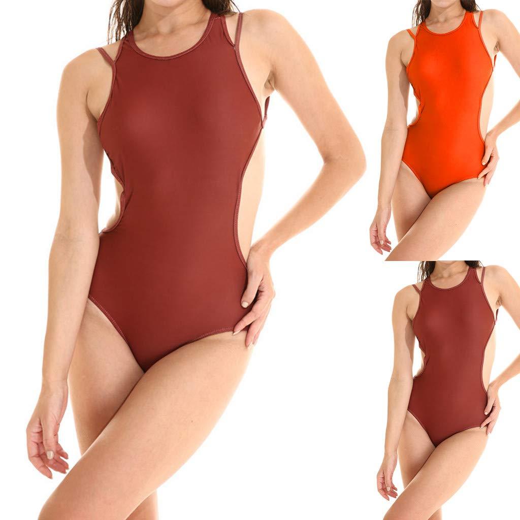 Women Bathing Suit  Swimwear Spaghetti Strap One Piece Swimsuit Beach Wear