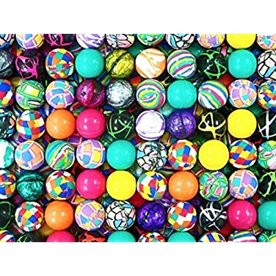 RIN 1000 superballs high Bounce Bouncy Balls 27 mm 1 inch Vending Machine Balls: Toys & Games