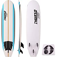 THURSO SURF Aero 7 ft Soft Top Surfboard Foam Surfboard Package Includes Three Fins Double Stainless Steel Swivel Leash EPS Core IXPE Deck HDPE Slick Bottom Built in Non Slip Deck Grip