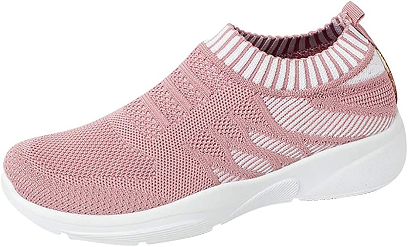 Kids Sneaker Slip-On Shoes Lightweight Breathable Mesh Active Running Shoes