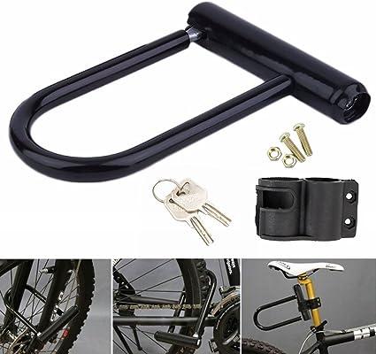 ZhongYeYuanDianZiKeJi Candado de Bicicleta U con Cable Candado ...