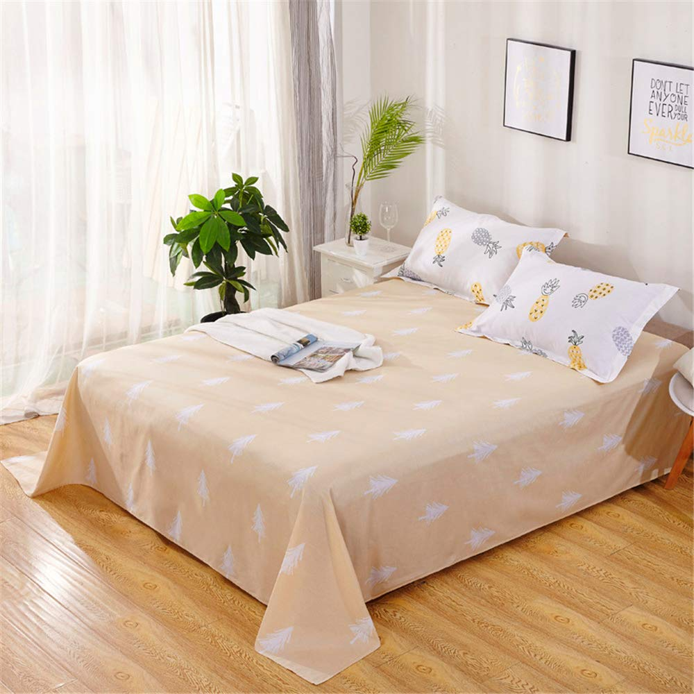 Bedding Items Cotton semi-Active Sheets Simple Style Right Angle Rounded Corners Soft and Comfortable Smooth and Smooth Simple Atmosphere Sogra 240265cm by iangbaoyo