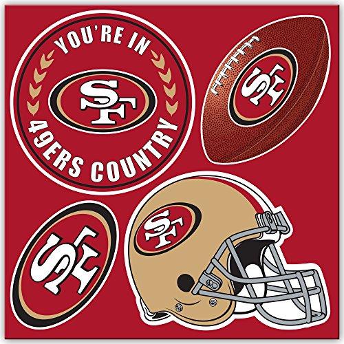 NFL San Francisco 49Ers 4-Piece Magnet Set, Cardinal,