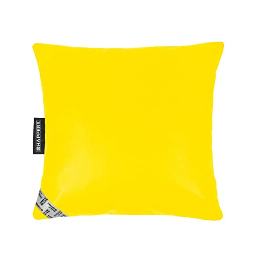 Happers Cojín 45x45 Polipiel Indoor Amarillo