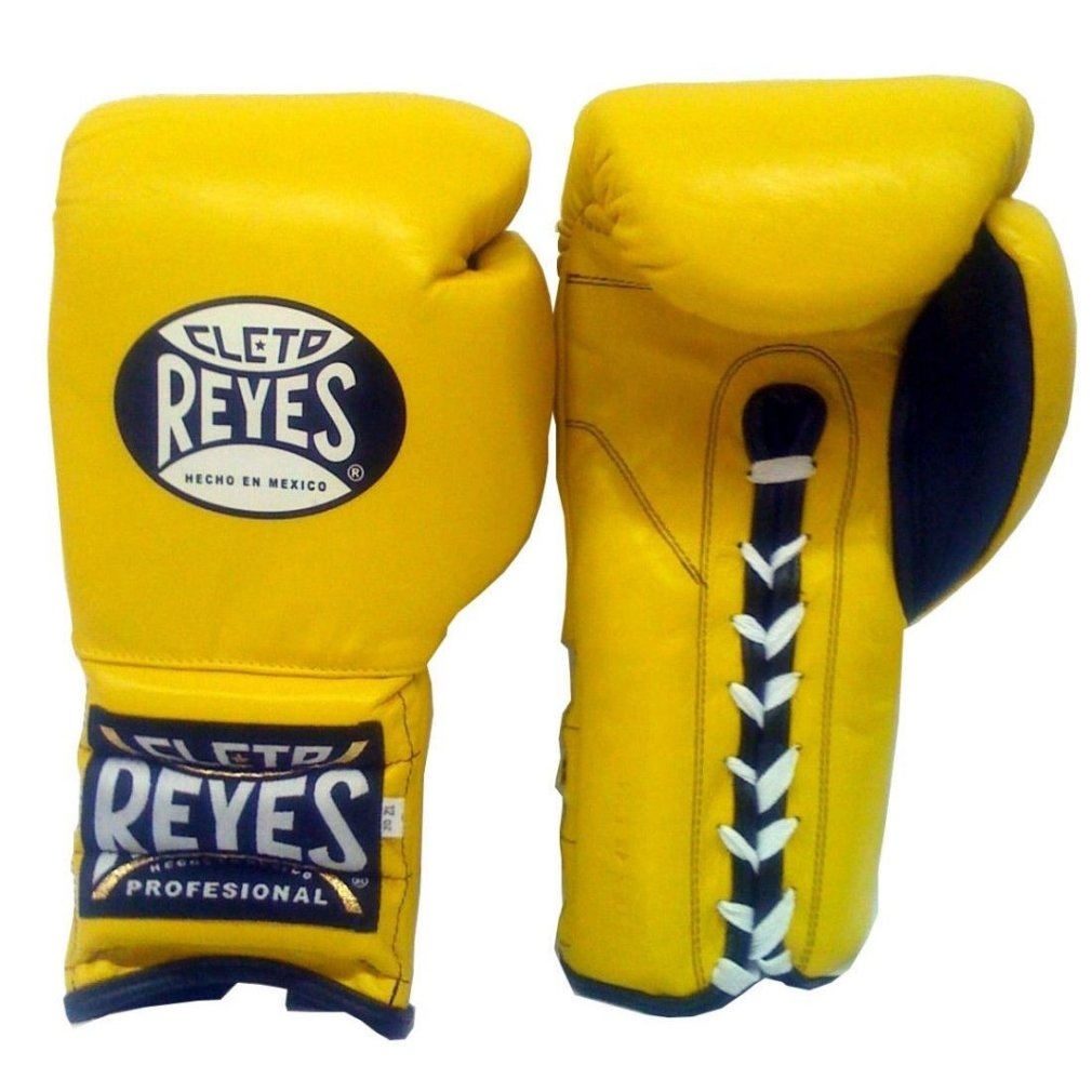 Cleto Reyes Traditional Lace Upトレーニング手袋 B075GFLDY5 16オンス|Yellow (Lace) Yellow (Lace) 16オンス
