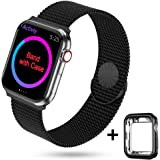 HONEJEEN Compatible with Apple Watch Band 38mm 40mm 42mm 44mm,Stainless Steel Mesh Loop Parts for iWatch Band Series 5 4 3 2 1