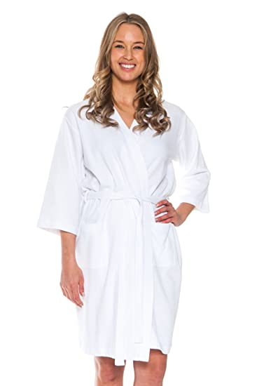 Patricia Women s Soft Waffle Knit Spa Robe at Amazon Women s Clothing store  0234032a0