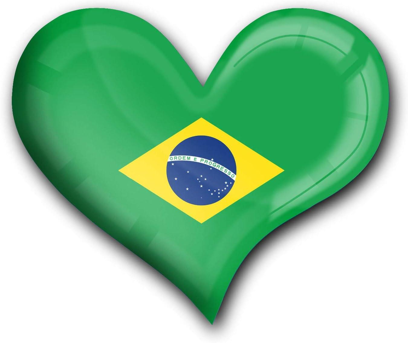 Super Magnetei//calamita durevole per il frigo al neodimio in forma di cuoreBandiera il Brasile