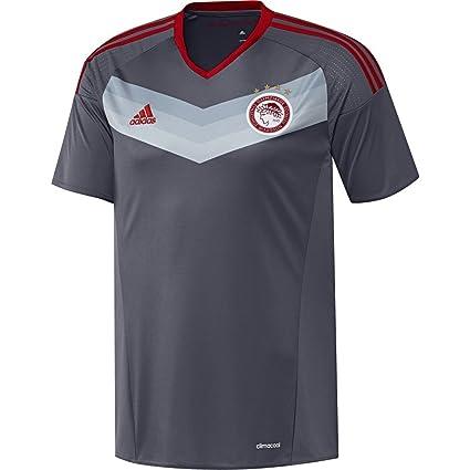 adidas JSY Camiseta 2ª equipación Olympiacos FC 2015/2016, Hombre, Azul/Rojo