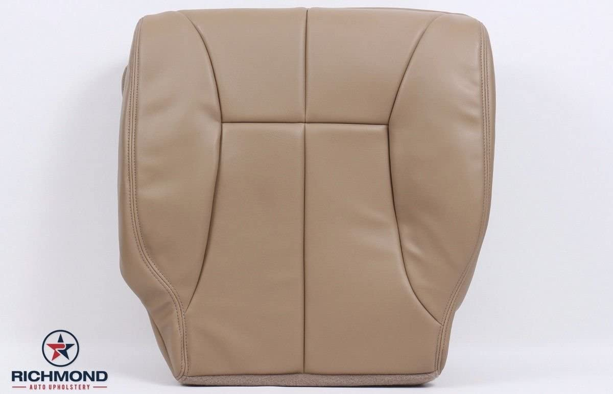 1998-2001 Dodge Ram 1500 SLT Driver Side Bottom Synthetic Leather Seat Cover Tan