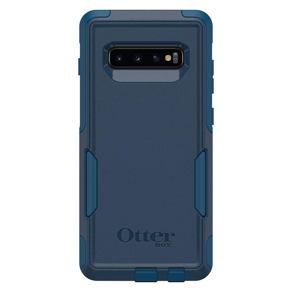 OtterBox COMMUTER SERIES Case for Galaxy S10+ - Retail Packaging - BESPOKE WAY (BLAZER BLUE/STORMY SEAS BLUE)