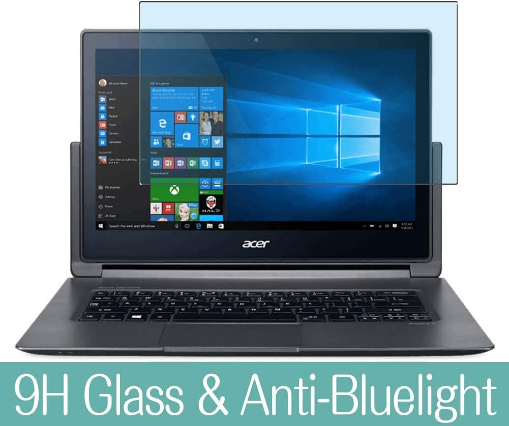 "Synvy Anti Blue Light Tempered Glass Screen Protector for Acer Aspire R7-371T / R7-372T 13.3"" Visible Area 9H Protective Screen Film Protectors (Not Full Coverage)"