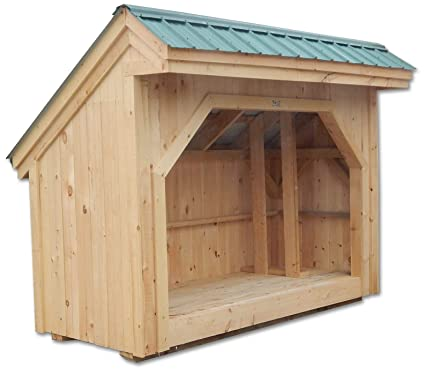 Amazon com: Timber Frame Post and Beam Firewood Storage Shed